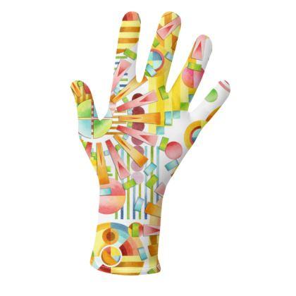 Art Deco Fireworks Geometric Gloves 2 pack