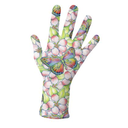 Rainbow Butterfly Apple Blossom Gloves 2 pack