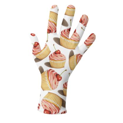 Twirling Pink Cupcakes Gloves 2 pack