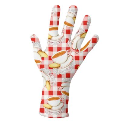 Tea Cup and Red Gingham Gloves 2 pack