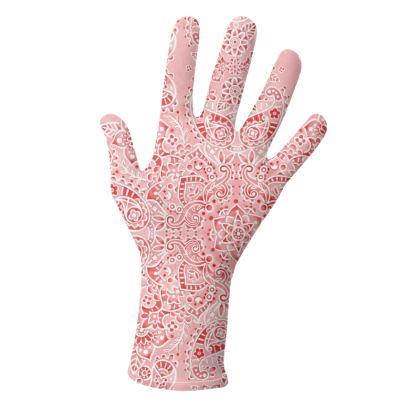 Pink Paisley Bandana Gloves 2 pack
