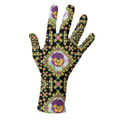 Purple Pansy Parterre Gloves 2 pack