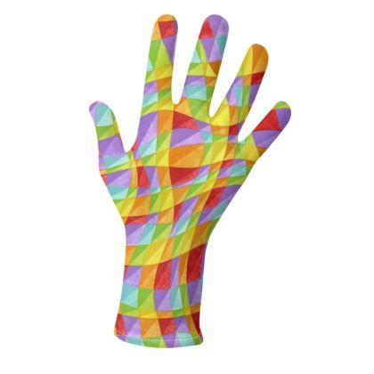 Rainbow Plaid Gloves 2 pack