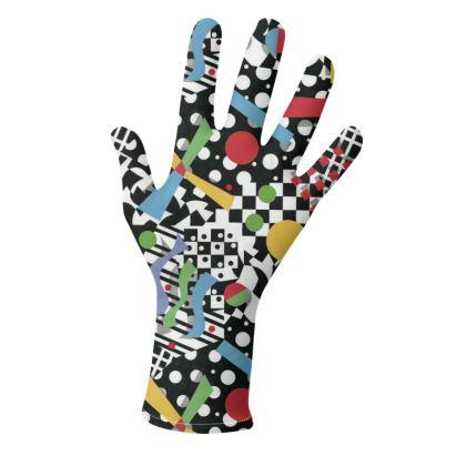 90s Rad Geometric Gloves 2 pack