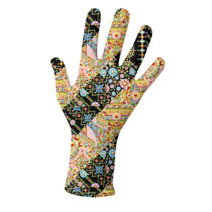 Crazy Crazy Patchwork Pattern Gloves 2 pack