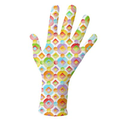Rainbow Candy Polka Dots Gloves 2 pack