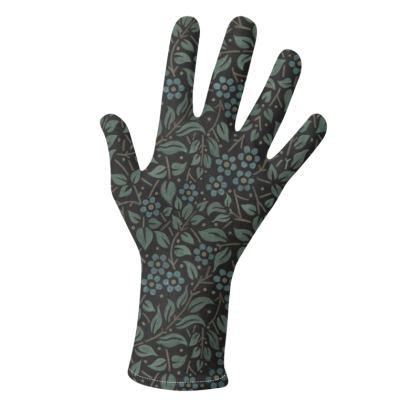 Chalkboard Filigree Floral Gloves 2 pack