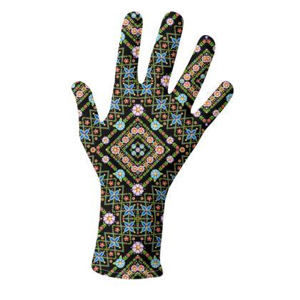 Millefiori Floral Lattice Pattern Gloves 2 pack