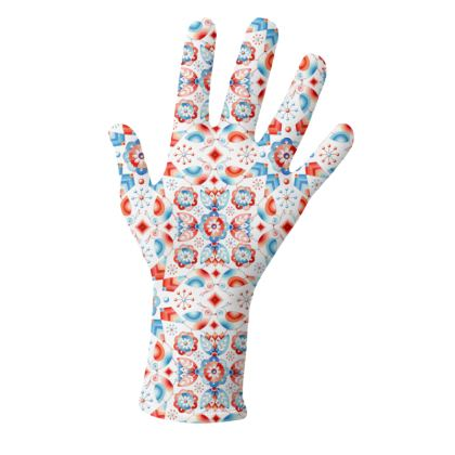Red and Blue Birds Pattern Gloves 2 pack