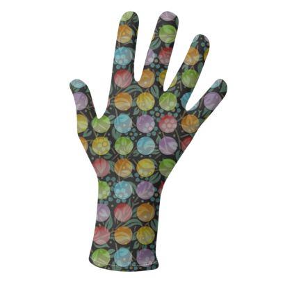 Elegant Rainbow Polka Dots Gloves 2 pack