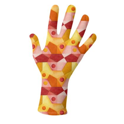 Dimensional Hexagons Gloves 2 pack