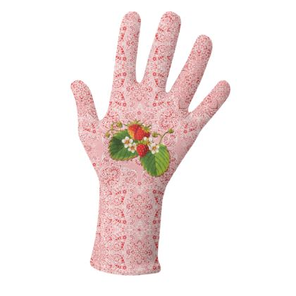 Pink Paisley Strawberries Gloves 2 pack