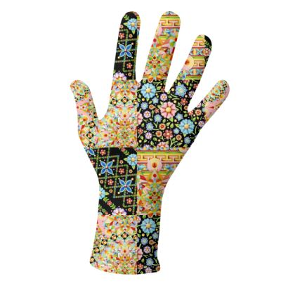 Crazy Patchwork Gloves 2 pack
