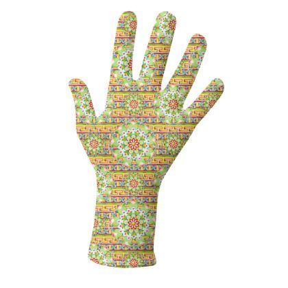 Mandalas and Decorative Stripes Gloves 2 pack