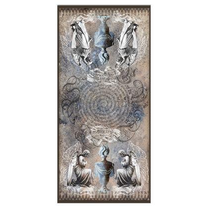 Angels - 100% Silk Georgette Long Scarf