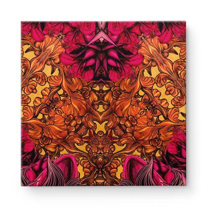 Kaleidoscope 7 Square Canvas