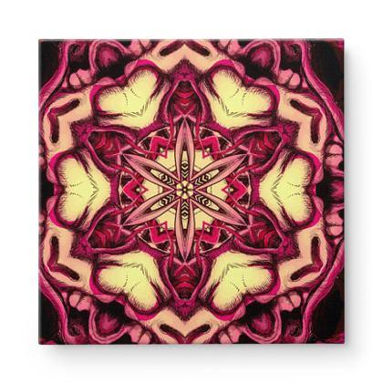 Kaleidoscope 6 Square Canvas