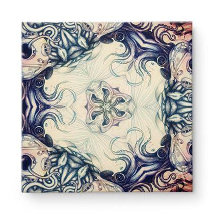 Kaleidoscope 4 Square Canvas