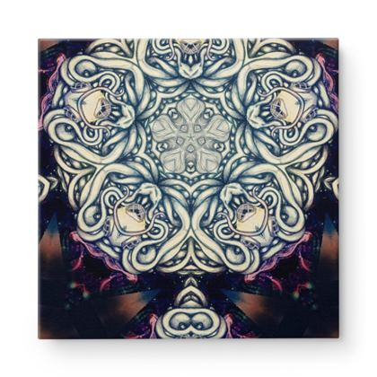Kaleidoscope 3 Square Canvas