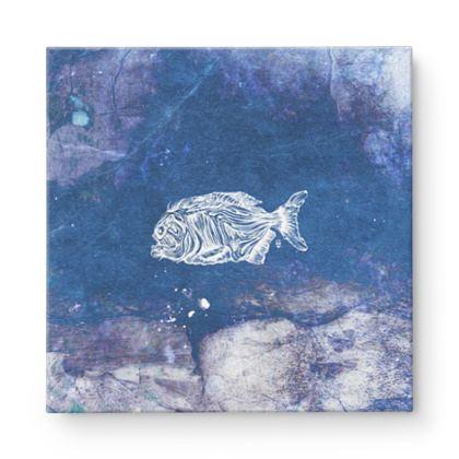 Piranha xray Square Canvas