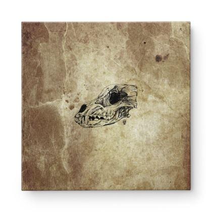 Wolf Skull Square Canvas