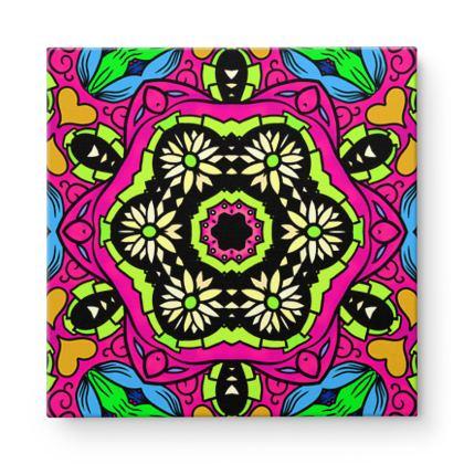 Mandala 5 Square Canvas