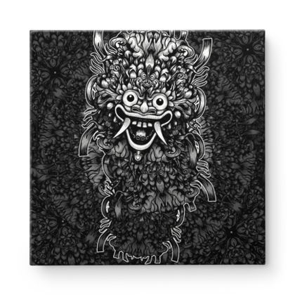 Bali Mask Square Canvas