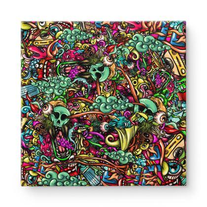 doodles 2 Square Canvas