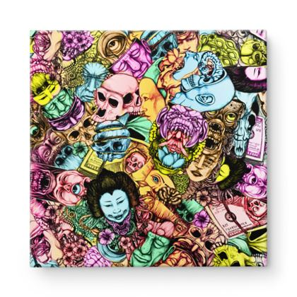 Men and Mutants Color Square Canvas