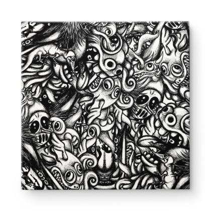 doodles Square Canvas