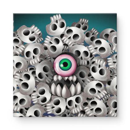 Skull Monster Square Canvas