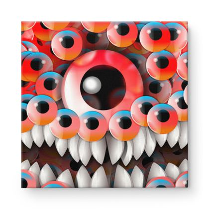 Eyes Monster Square Canvas