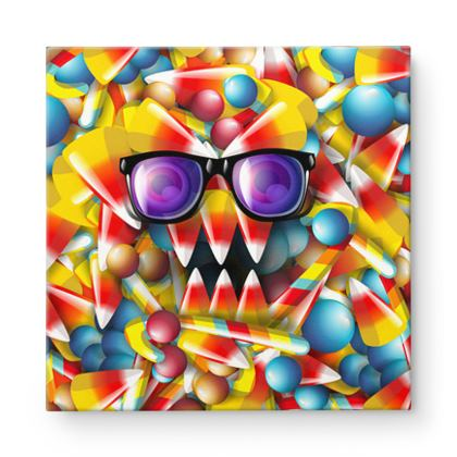 Candy Monster  Square Canvas