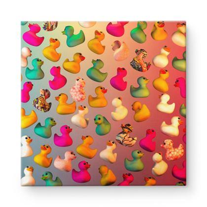 Rubber Ducks Square Canvas