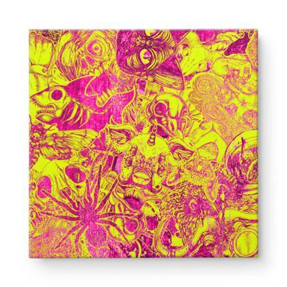 Stickers 3 Square Canvas