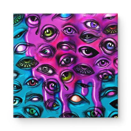 Eyes Square Canvas