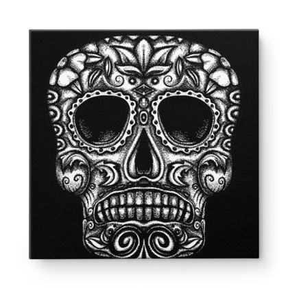 Candy Skull Square Canvas