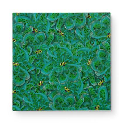 Cute Octopus 2 Square Canvas