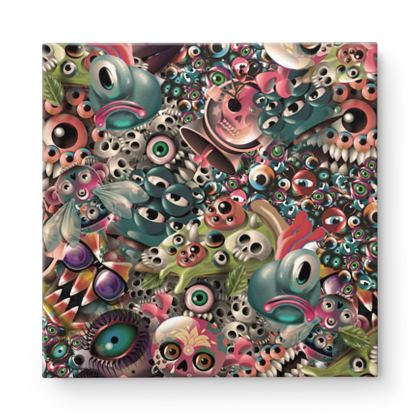 Monster World Square Canvas