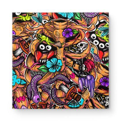 Doodle Bones Square Canvas