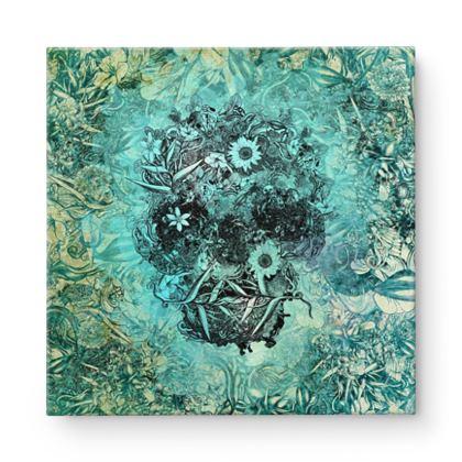 Blue Skull Square Canvas