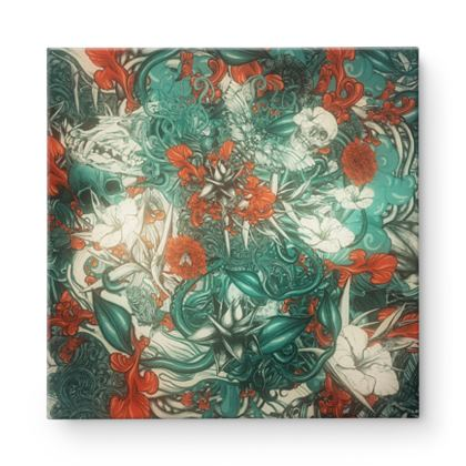 Mix 5 Blue  Square Canvas