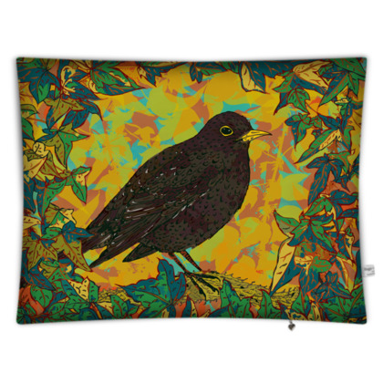 Blackbird and Ivy Rectangular Floor Cushion