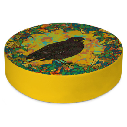 Blackbird and Ivy Round Floor Cushion