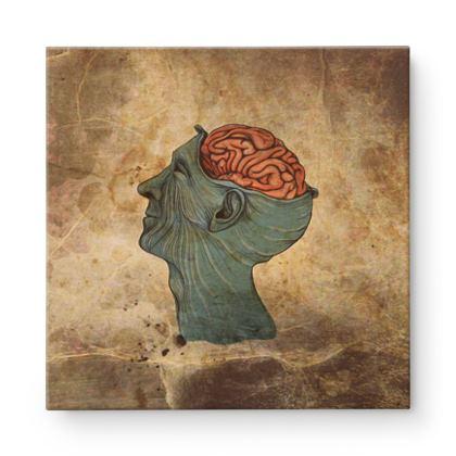 Brain Square Canvas