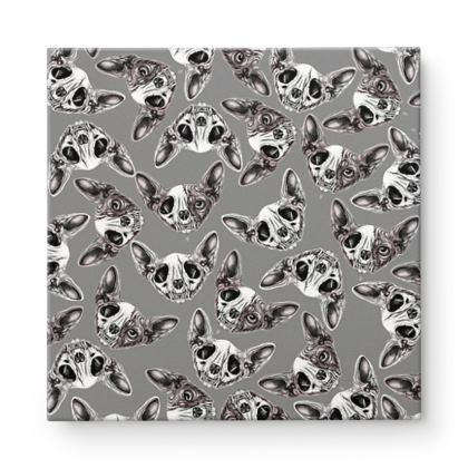 Sphynx skull Square Canvas