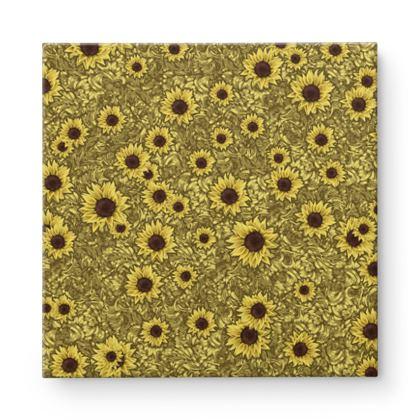Sun Flowers Square Canvas
