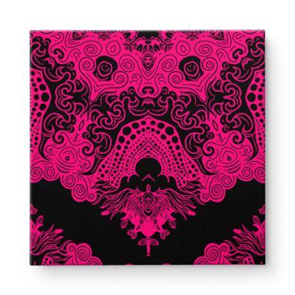 Pink Mirror Square Canvas