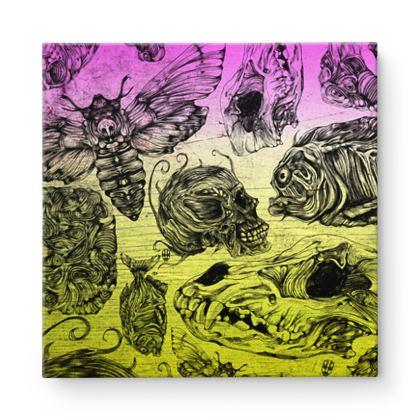 Bones and color Square Canvas