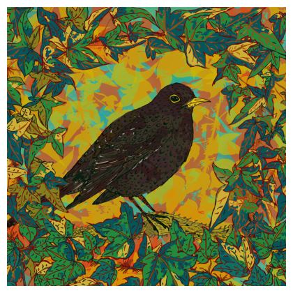 Blackbird and Ivy China Plate